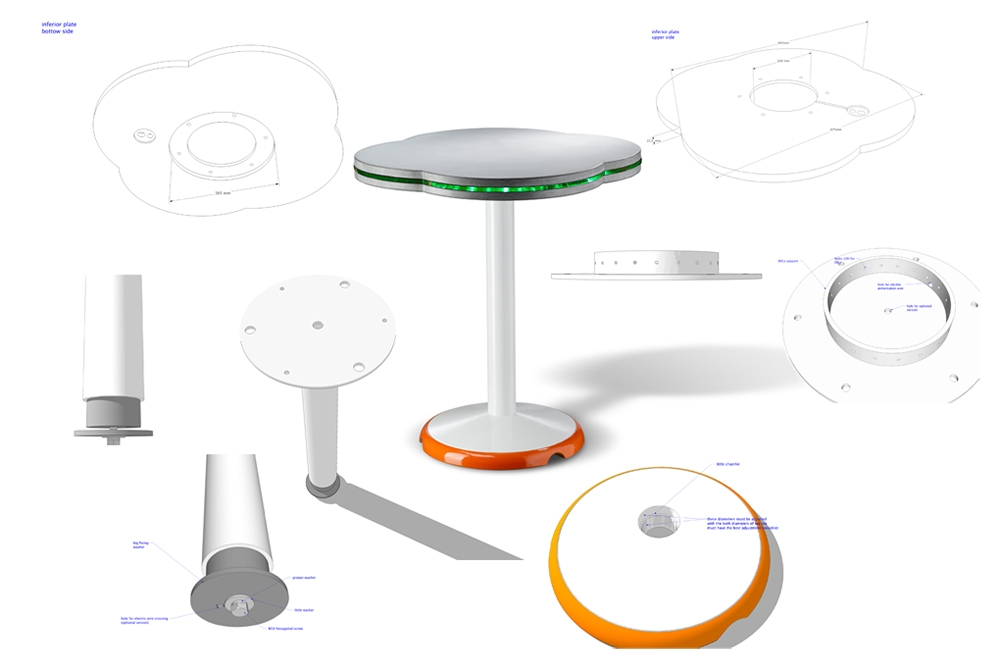 Conception d'un table de bar lumineuse